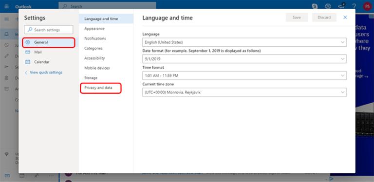 Office 365からpstへのエクスポート