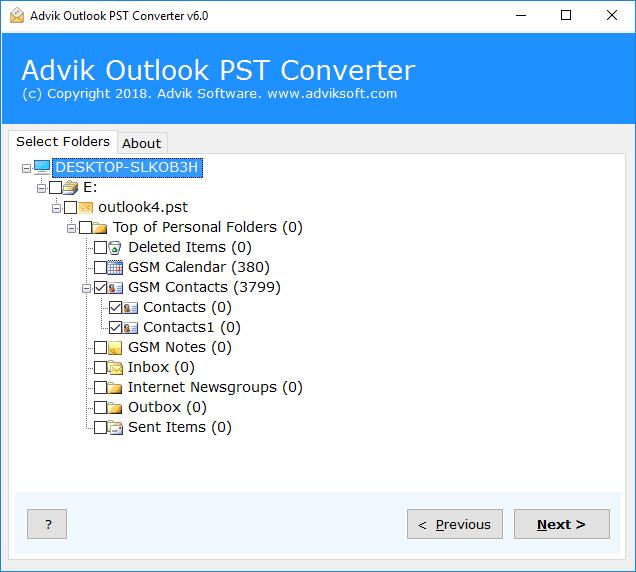 OutlookのメールをエクスポートしてCSV