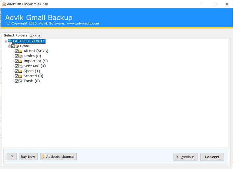Gmailのメールをバックアップ