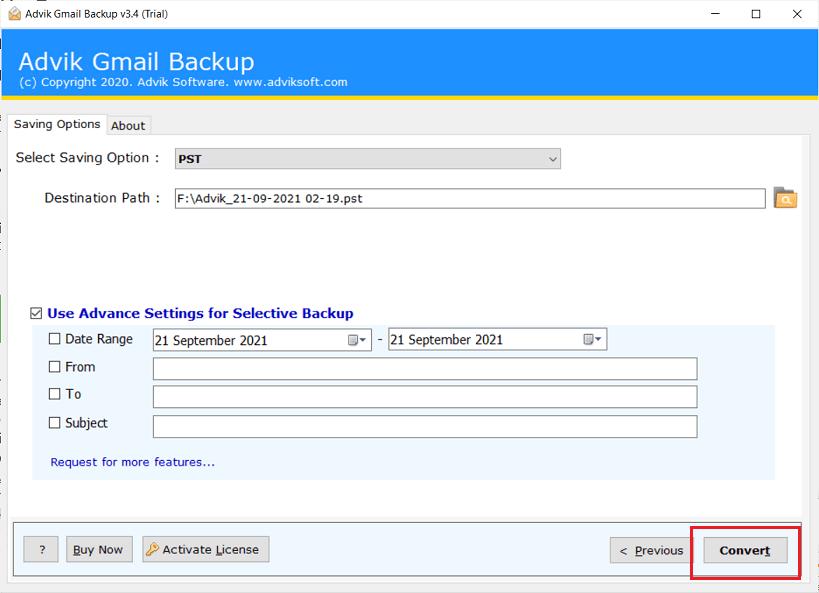Gmailのメールをハードドライブにダウンロードする